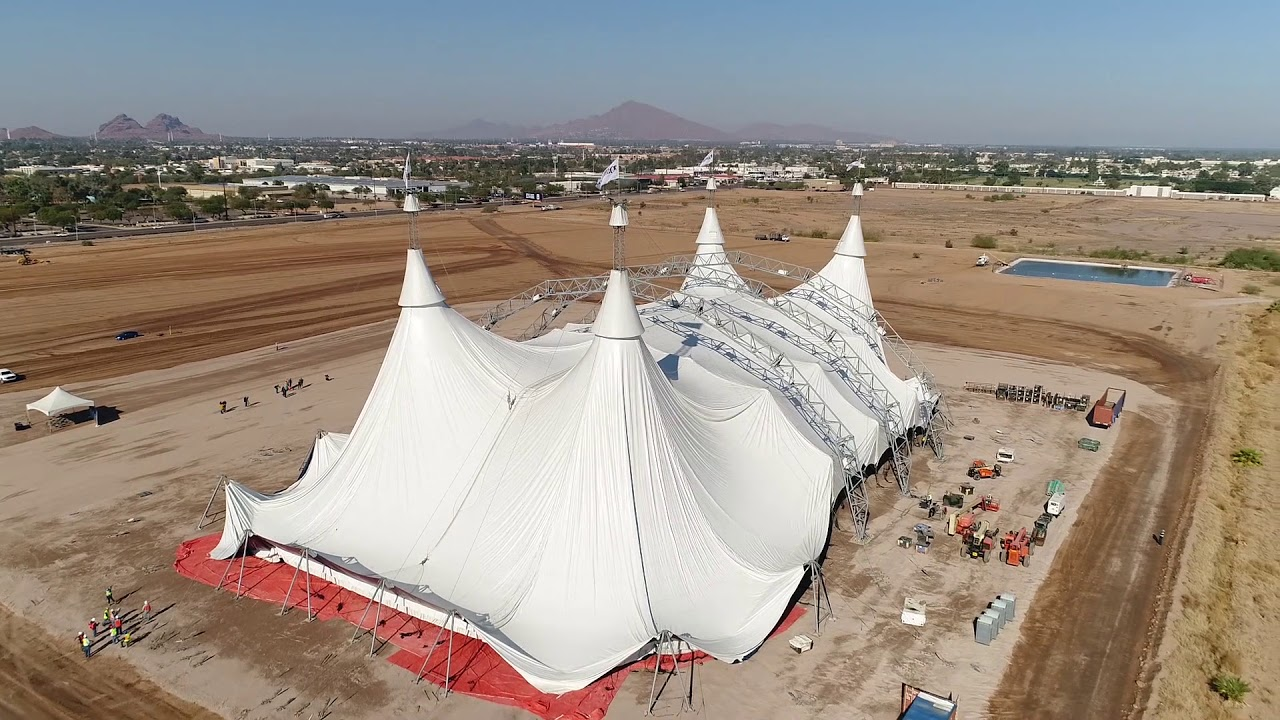 Cavalia Odysseo White Big Top Raising in Scottsdale
