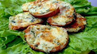 Вкусные горячие бутерброды с картошкой на сковороде. Простой рецепт быстрого завтрака