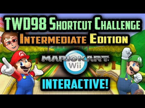 Mario Kart Wii - YOU vs TWD98 Shortcut Challenge [Intermediate Edition]