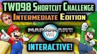 Mario Kart Wii - YOU vs TWD98 Shortcut Challenge [Intermediate Edition]