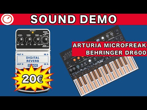 Arturia MicroFreak & Behringer DR600 Sound Demo - Reverb