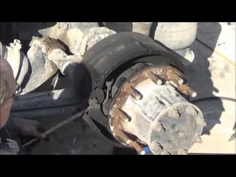 Changing Brakes On A Big Truck Youtube