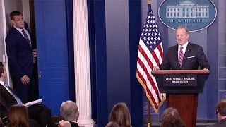 Gronk CRASHES Sean Spicer's Press Briefing