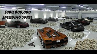 GTA 5 ONLINE  $800 000 000 SPENDING SPREE BUYING EVERYTHING IN THE GAME
