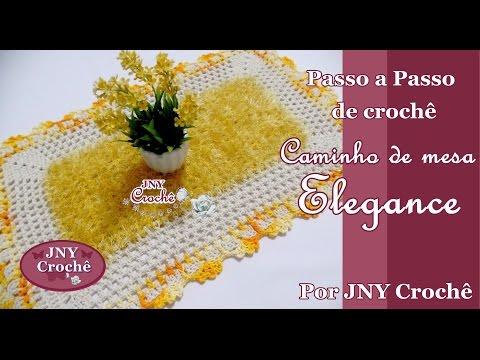 PAP Caminho de mesa ou Tapete de crochê Elegance por JNY Crochê
