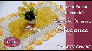Caminho de mesa ou Tapete de crochê Elegance por JNY Crochê