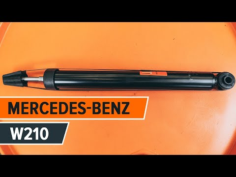 How to replace rear shock absorbers MERCEDES-BENZ E W210 TUTORIAL | AUTODOC