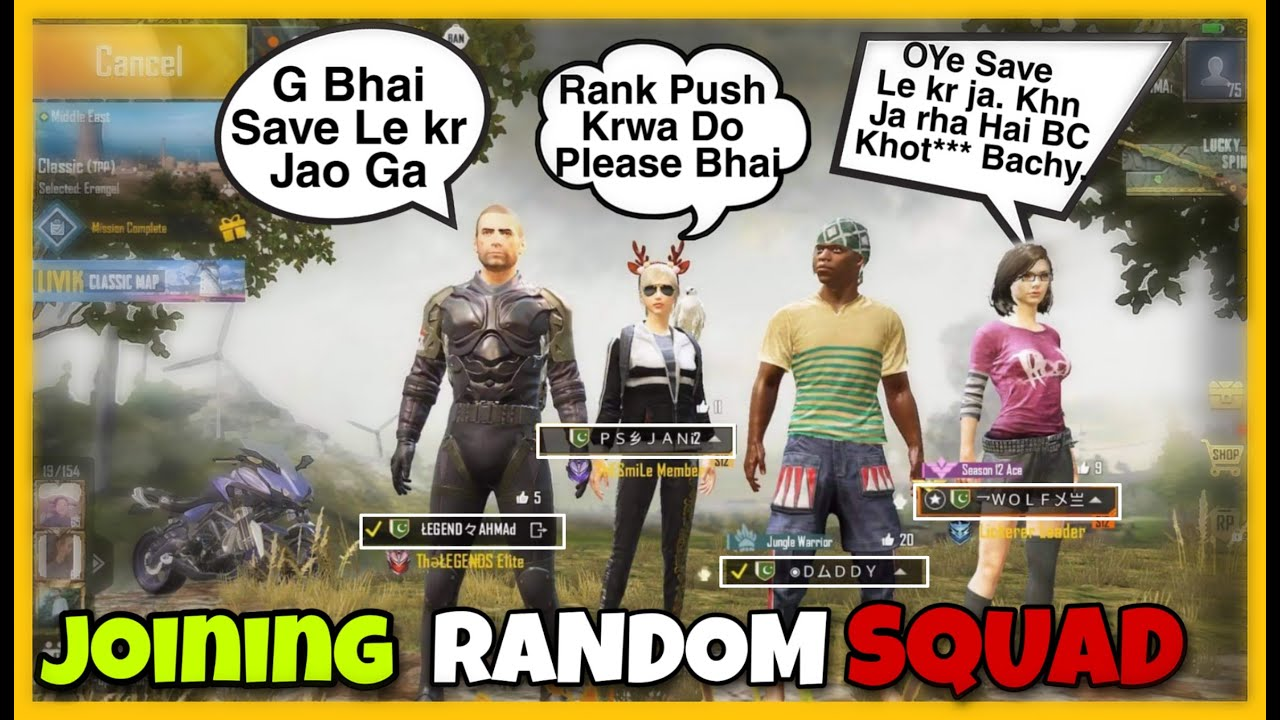 Joining Random Squad & Kidnaping Rank Pusher Squad | Pubg Mobile