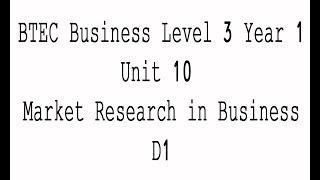 business btec level 3 unit 1