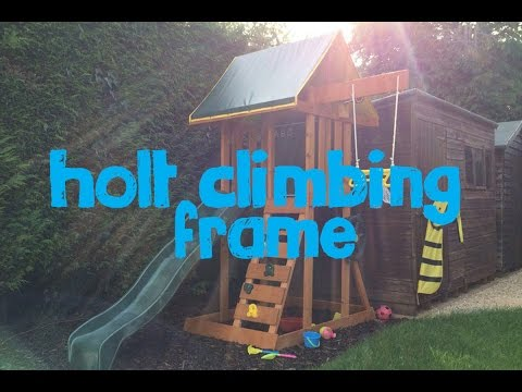 Holt Climbing Frame with Slide, Rock Wall and Acrobatic Swing
