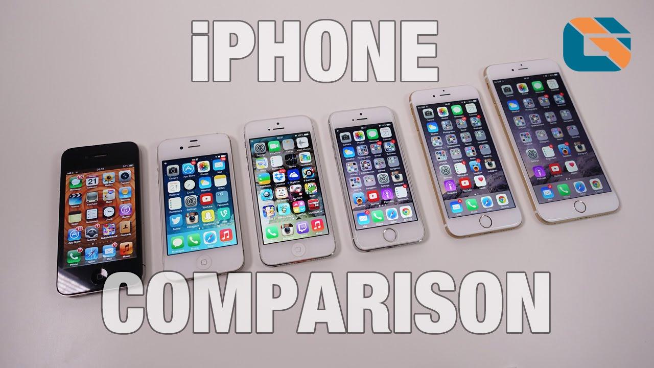 Apple IPhone 4 Vs 4s 5 5s 6 Plus Comparison