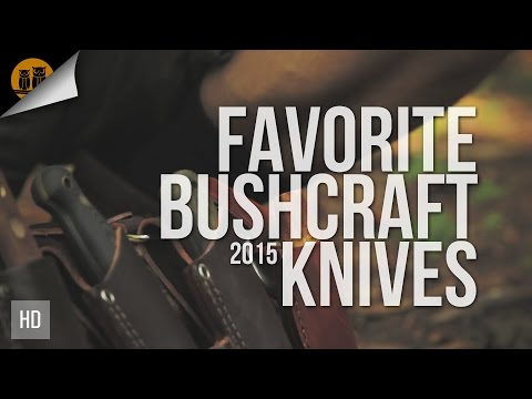 Favorite Bushcraft Knives 2015