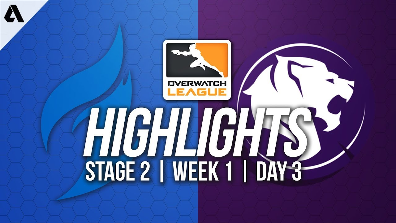 Dallas Fuel Vs Los Angeles Gladiators Overwatch League Highlights Owl Stage 2 Week 1 Day 3 Youtube