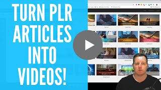 Using PLR Articles To Make Videos For Affiliate Marketing