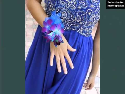 Blue And Purple Orchids Corsage Picture Ideas For Wedding Romance