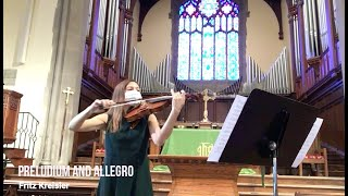 Preludium and Allegro by Fritz Kreisler - Erin Hall, Violin; Matthew Phelps, Piano