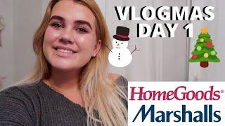 SHOP WITH ME - MARSHALLS & HOMEGOODS - VLOGMAS DAY 1