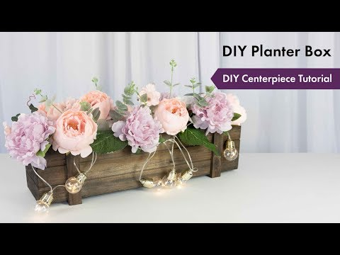 Planter Box Centerpiece Tutorial | How To Setup | eFavormart.com