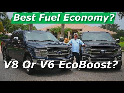Ford F150 King Ranch Pickup V8 Vs. V6 EcoBoost Fuel Economy