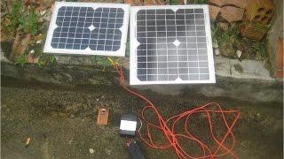 Năng lượng mặt trời-Phần 2-Sạc bình Acquy bằng năng lượng mặt trời