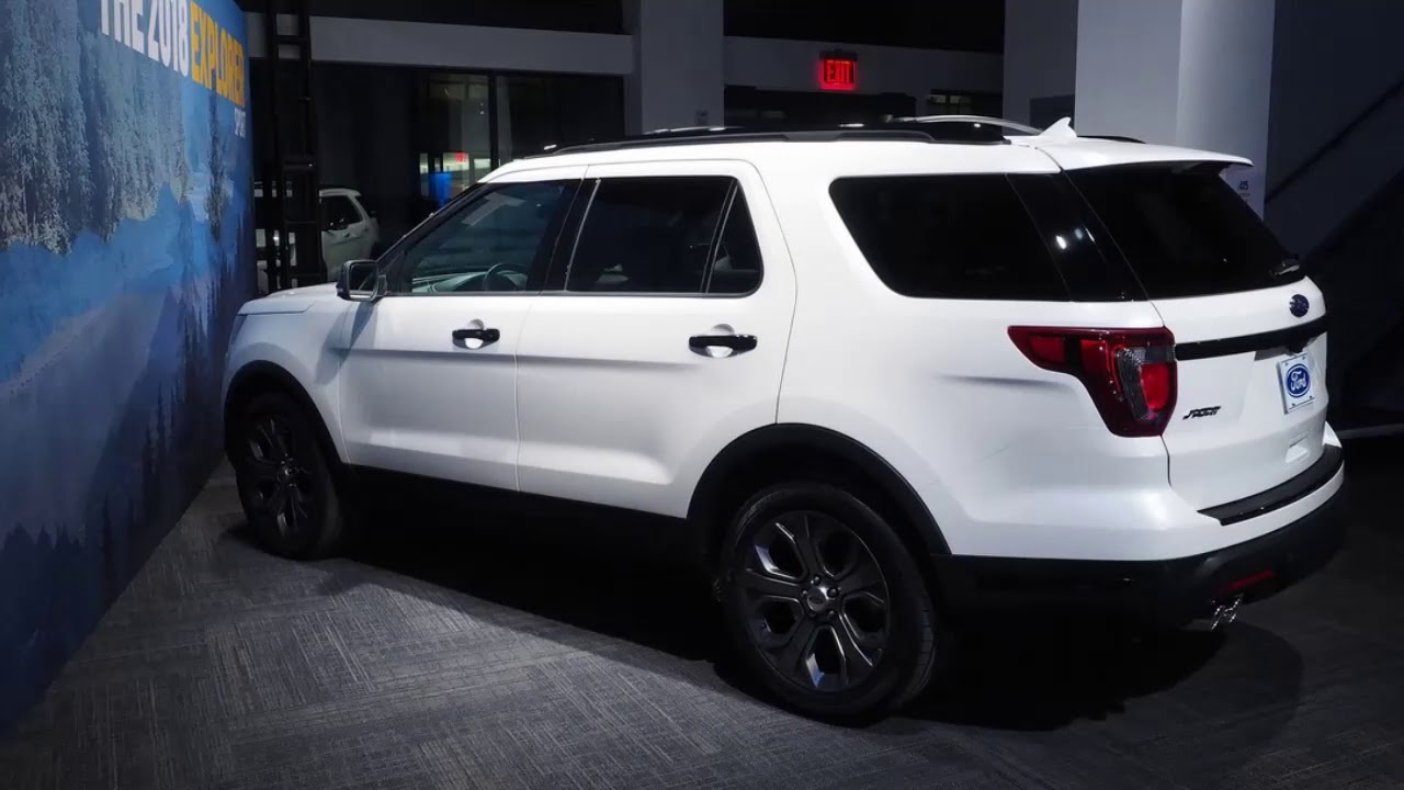 Ford Explorer Black Rims >> 2018 Ford Explorer Sport With Black Rims Youtube