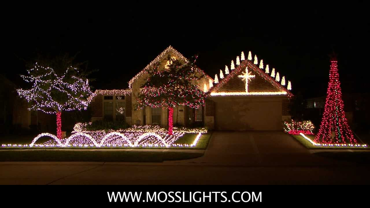 complete 2011 christmas light show lor light o rama mosslightscom in league city tx