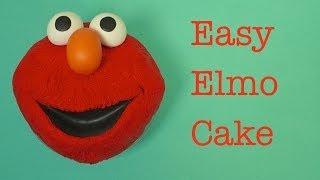 Easy Elmo Cake (how-to)