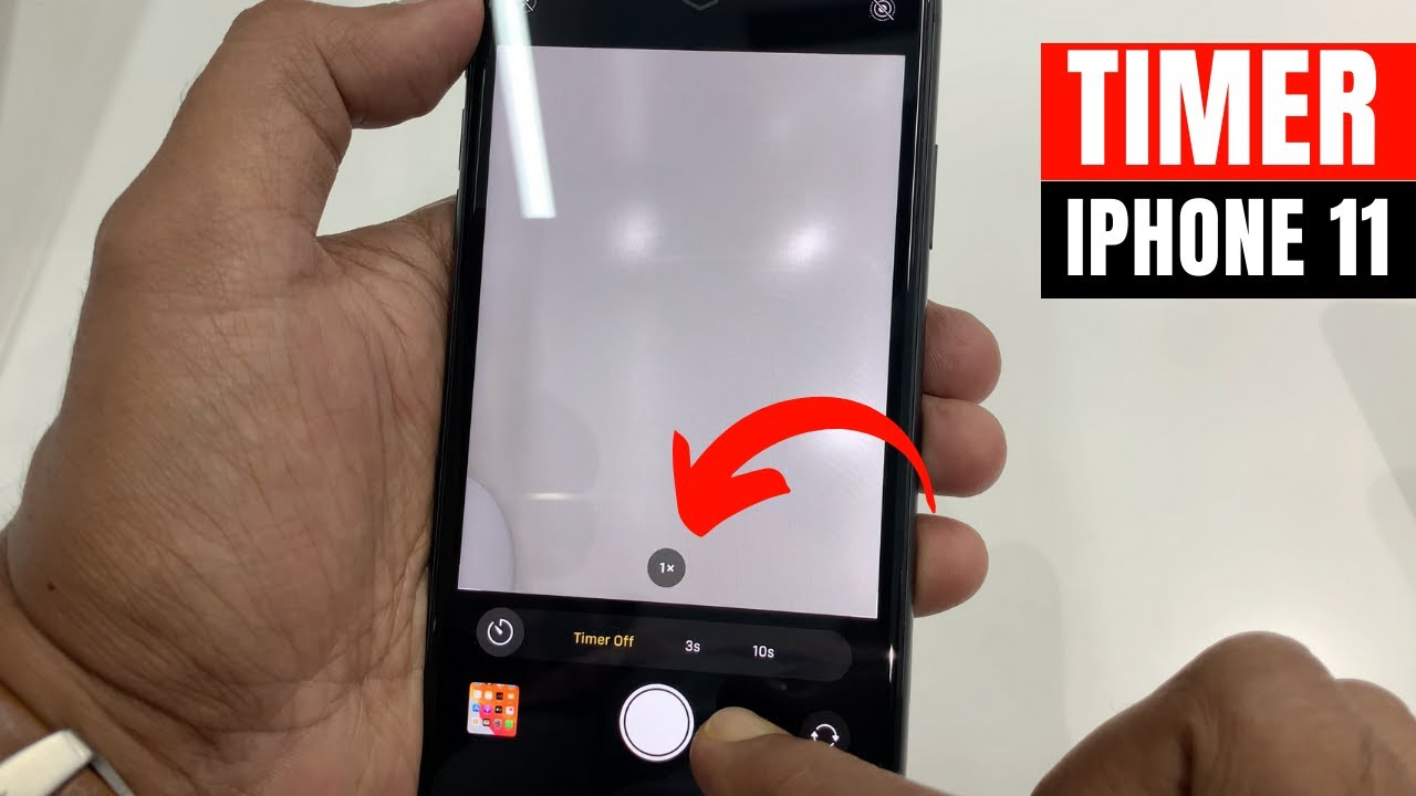 How To Access The Camera Timer On Iphone 11 Youtube