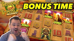 19 FREE SPINS !! ~ TEMPLE OF TREASURE SLOT BONUS 🚨 ONLINE CASINO WIN