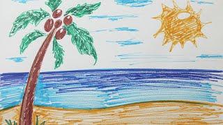 Comment dessiner une plage