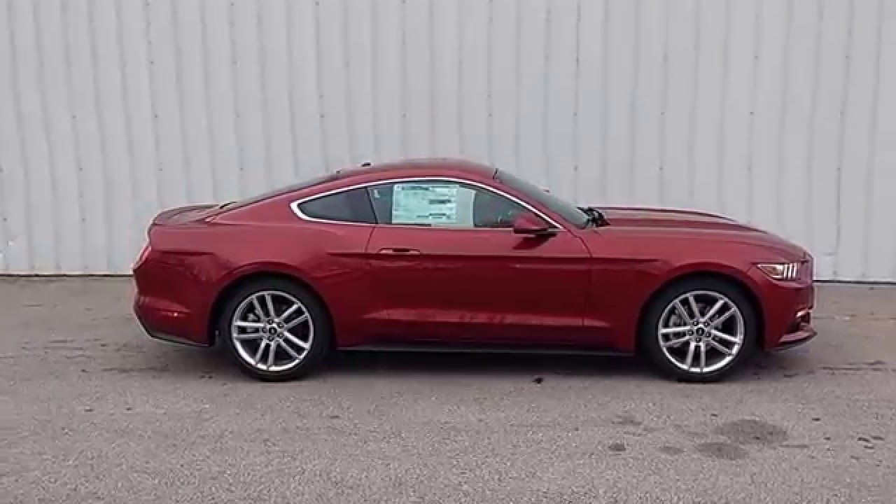 Ruby Red 2016 Mustang Ecoboost Pony Package Coupe Auto Security Pkg