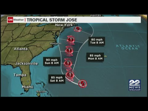 Jose now a Category 1 hurricane