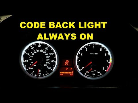 BMW E90 Instrument Cluster Light Always On **Coding**