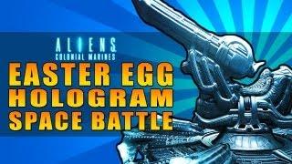 Aliens: Colonial Marines Easter Egg -- Space Jockey Hologram Battle Easter Egg