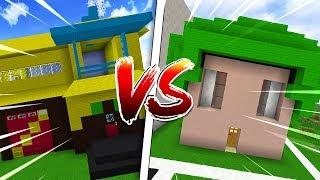 Minecraft: CASA DA MALENA VS CASA DO SPOK!!! (Coelha)