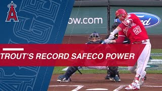 Mike Trout's 20 career home runs at Safeco Field