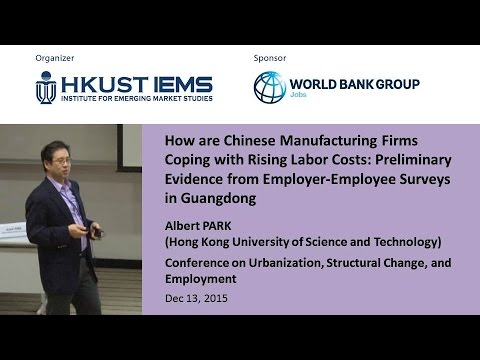 Albert PARK: How are Chinese Manufacturing Firms Coping with Rising Labor Costs....