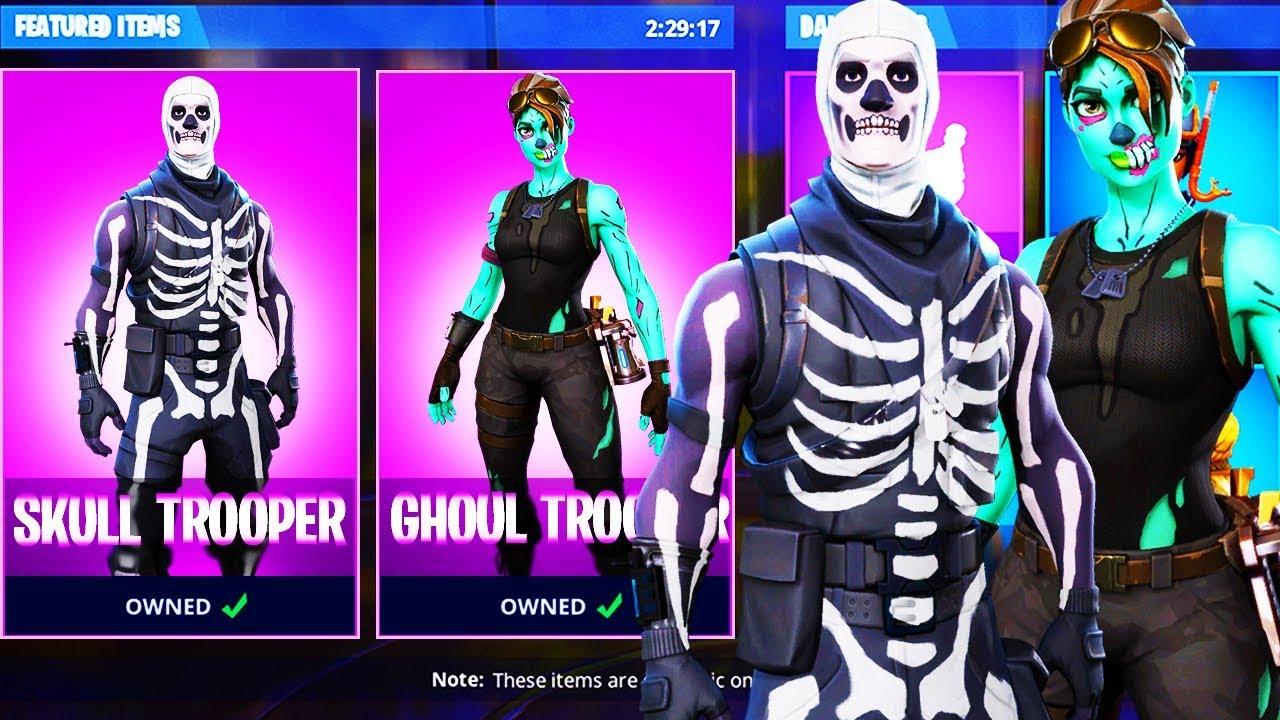Resultado de imagen para skull trooper and ghoul trooper