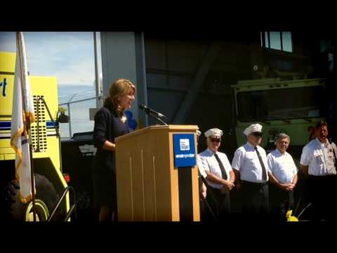 Lieutenant Governor Karyn Polito speaks At Worcester Regional Airport