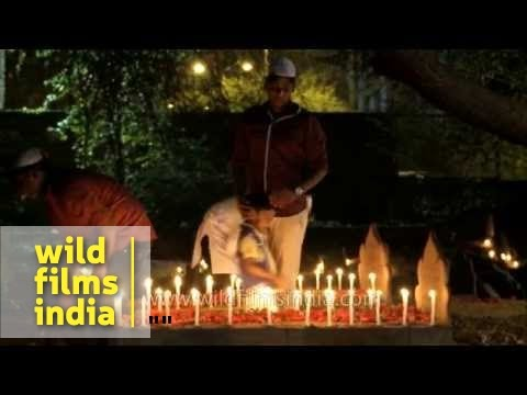 Lighting of candles on graves - Shab-e-barat