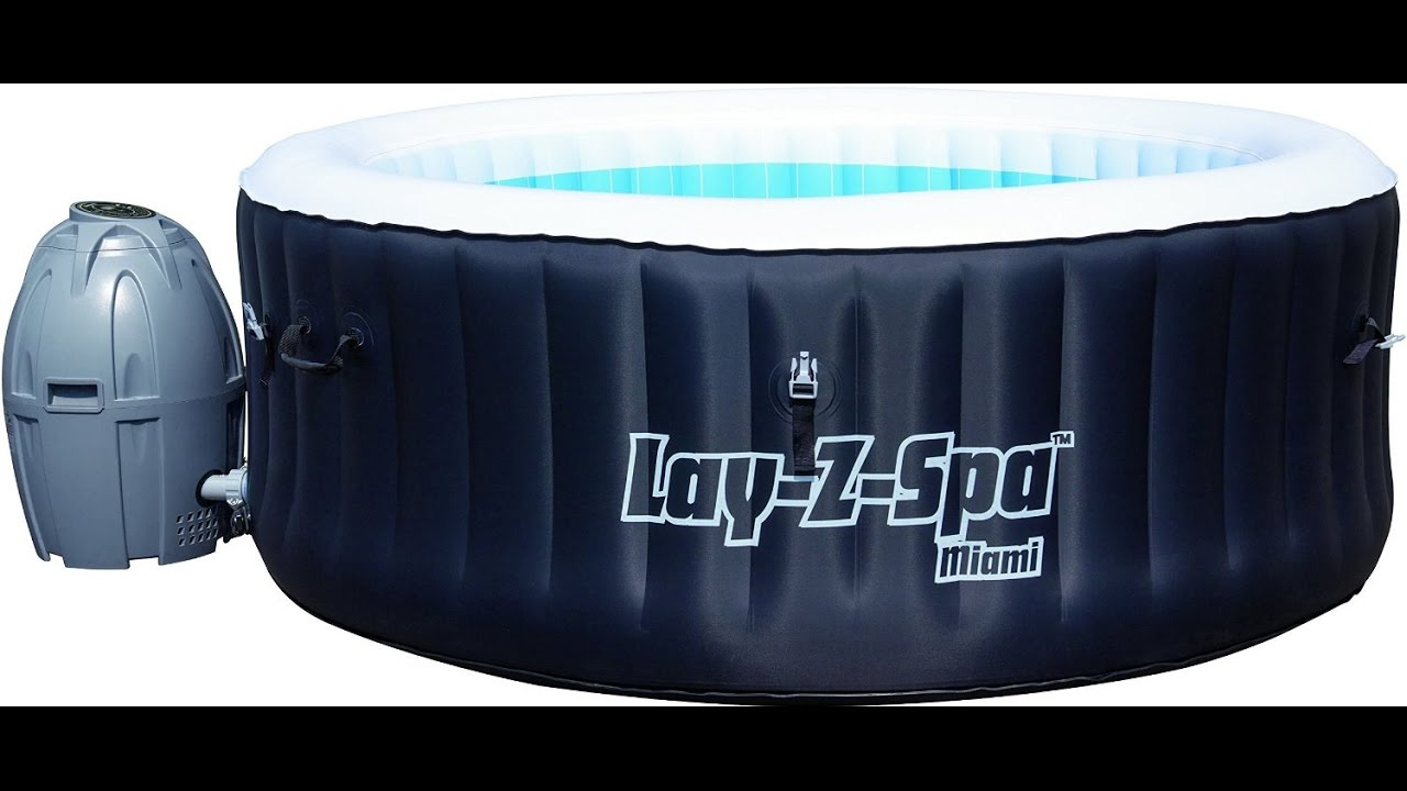 bestway whirlpool lay z spa miami testbericht deutsch. Black Bedroom Furniture Sets. Home Design Ideas