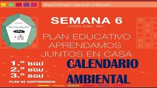Semana 6,✔✔ Bachillerato, Calendario Ambiental (Dodecaedro)