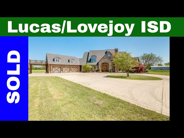 Country Home on 10 Acres in Lucas, Tx With The Highly Rated Lovejoy Schools