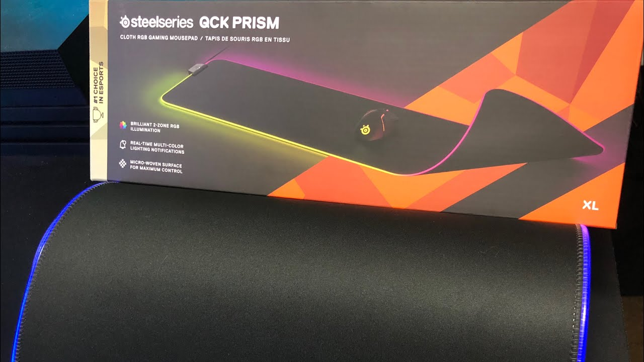 steelseries qck prism mousepad review