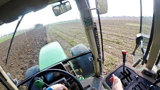 Cab View | John Deere 7710 Plowing