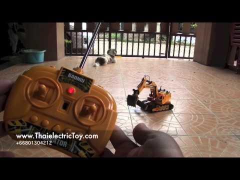 ของเล่นรถแบคโฮ หรือ แม็คโครบังคับ 11 channel