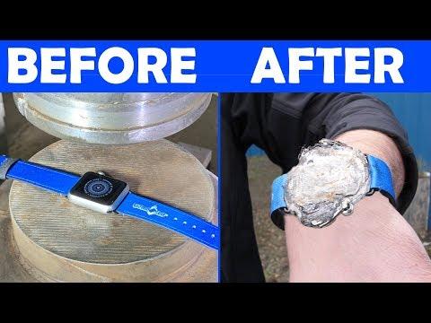 Creating World's THINNEST Apple Watch w/ 150-Ton Hydraulic Press
