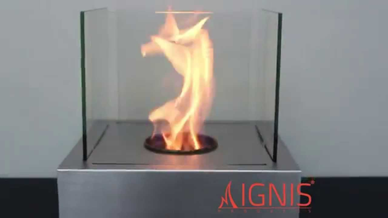 Ethanol Fireplace Cube Tabletop Ventless Fireplace By Ignis Youtube