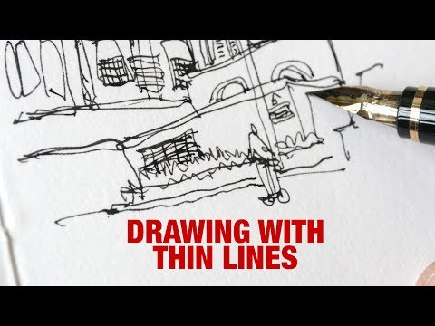 Drawing with Thin Lines
