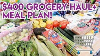 🛒 $400 GROCERY HAUL AND MEAL PLAN! 🍓 FAMILY OF 4